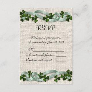 RSVP Irish linen and shamrocks