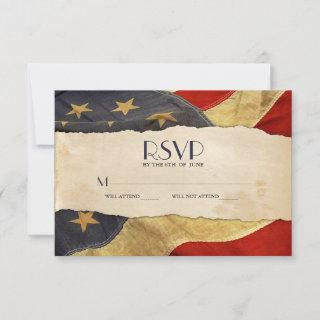 RSVP Vintage USA Flag Patriotic Military Wedding