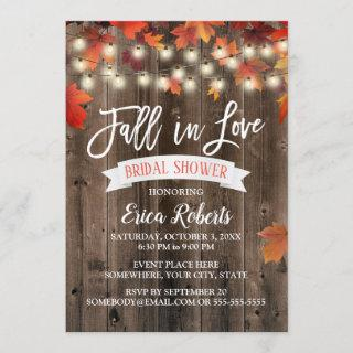 Rustic Autumn Leaves Fall in Love Bridal Shower