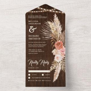Rustic Barn Wood Earthy Floral Boho Pampas Wedding All In One
