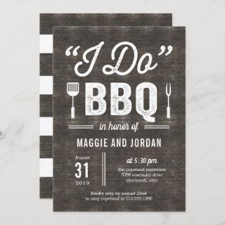 Rustic BBQ Couple Shower or Rehearsal Dinner Invitation