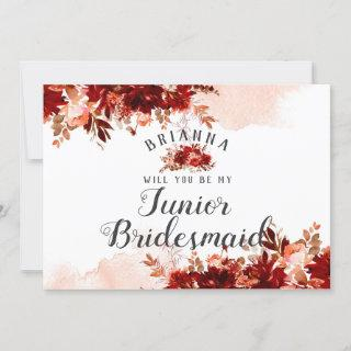 Rustic Beauty Floral Be My Jr. Bridesmaid Proposal