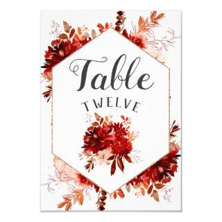 Rustic Beauty Floral Framed Table Number Seating