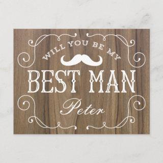 Rustic Best Man | Groomsmen Invitation