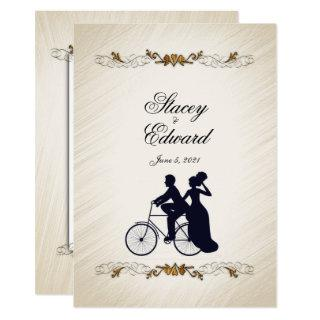 Rustic Bicycle Wedding Theme  Invitations