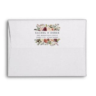 Rustic Bloom Embellished Return Address Envelope
