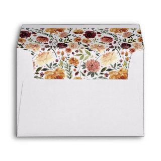 Rustic Bloom Return Address Envelope
