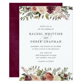 Rustic Bloom Wedding Invitations