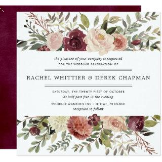 Rustic Bloom Wedding Invitations | Square