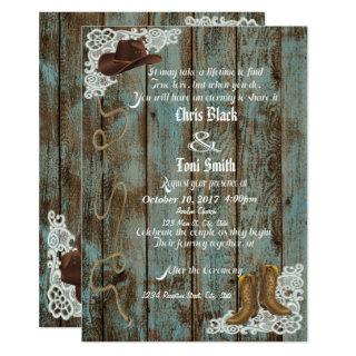 Rustic Boots & Lace Wedding Invite