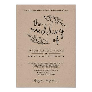 Rustic Branches Wedding Invitation