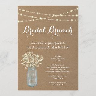Rustic Bridal Brunch Invitations