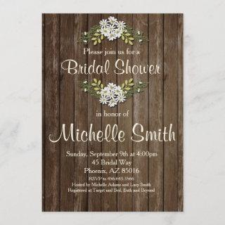 Rustic Bridal Shower , Daisy, Floral