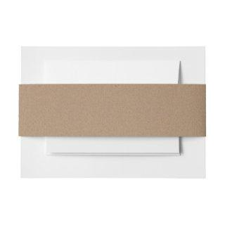 Rustic Brown Kraft Paper Pattern Invitations Belly Band