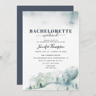 Rustic Cabin Bachelorette Weekend Itinerary Invitations