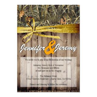 Rustic Camo and Twine Wedding Invitations
