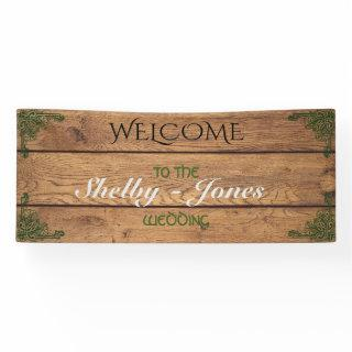 Rustic Celtic Claddagh Wedding Banner