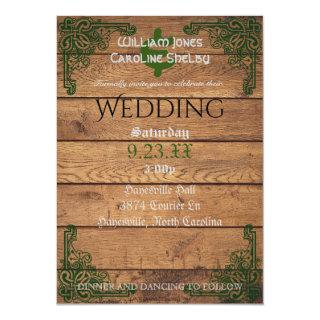 Rustic Celtic Claddagh Wedding Invitation