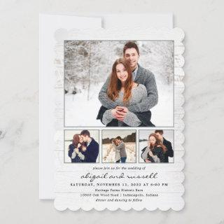 Rustic Chic Photo Wedding Invitations