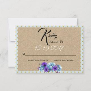 Rustic Cottage Roses Spring Wedding Suite Party RSVP Card