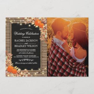 Rustic Country Autumn Fall Photo Wedding