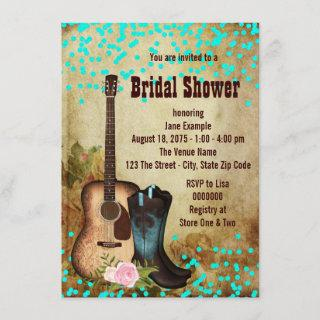 Rustic Country Bridal Shower Invitation