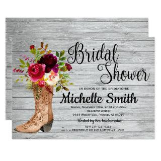 Rustic Country Bridal Western Boho Bridal Shower Invitation