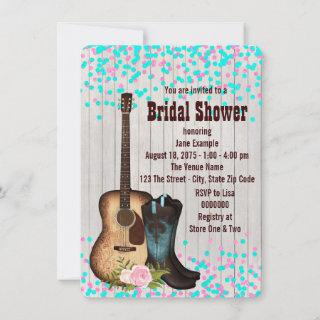 Rustic Country Cowgirl  Bridal Shower Invitation