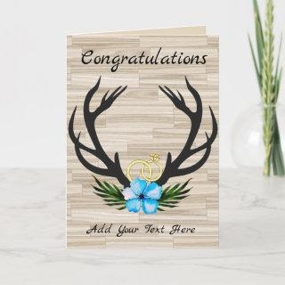 Rustic Country Engagement Wedding Party Elegant Card