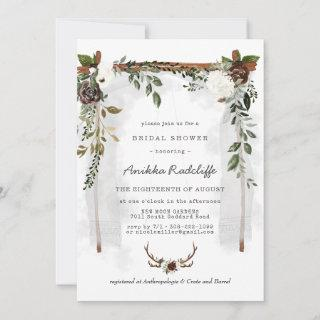 Rustic Country Floral | Bridal Shower Invitation