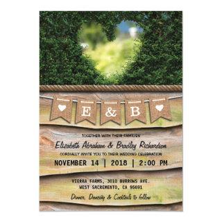 RUSTIC COUNTRY GARDEN WEDDING | HEART Invitations