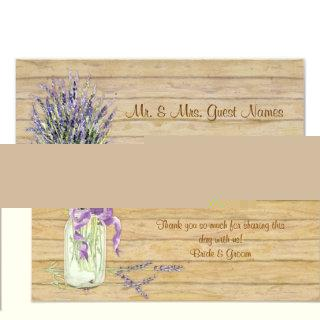 Rustic Country Mason Jar French Lavender Bouquet Invitations