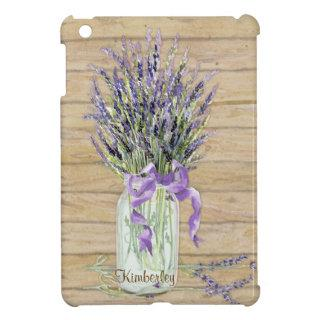 Rustic Country Mason Jar French Lavender Bouquet iPad Mini Case