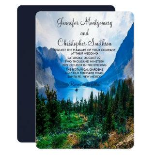 Rustic Country Mountains Scenic Nature Wedding Invitation