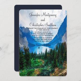 Rustic Country Mountains Scenic Nature Wedding Invitations