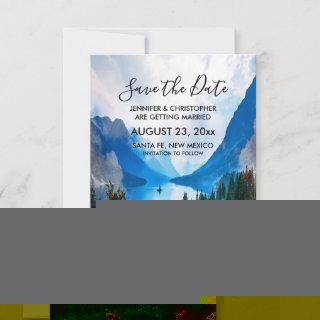 Rustic Country Mountains Scenic Nature Wedding Save The Date