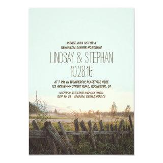 rustic country rehearsal dinner invitations