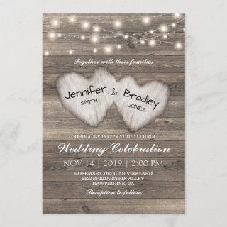 Rustic Country String of Lights Wedding