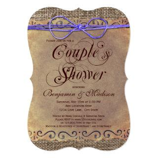 Rustic Country Vintage Couple's Shower Invitations