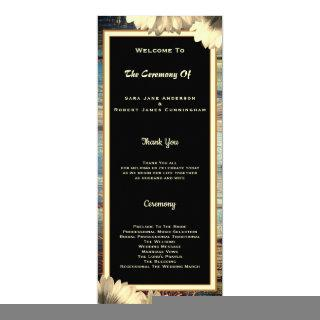 Rustic Country Wedding Framed Ceremony Card