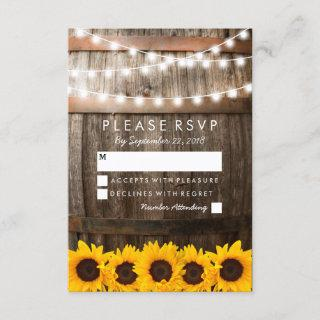 Rustic Country Wedding RSVP | Sunflower Lights