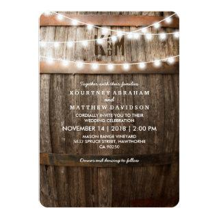 Rustic Country Wedding | String of Lights Invitation
