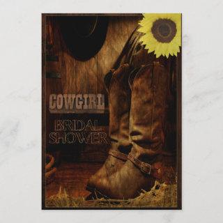 Rustic Country Western Cowgirl Bridal Shower Invitation