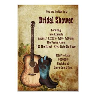 Rustic Cowgirl Bridal Shower Invitations