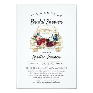 Rustic Drive By Bridal Shower Invitations