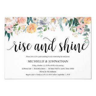 Rustic Dusk Post Wedding Brunch Invitation Card
