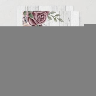 Rustic Dusty Rose Floral Bouquet Wood Invitations