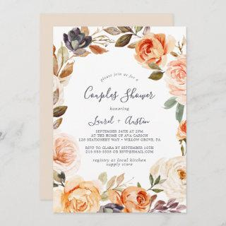 Rustic Earth Florals Couples Shower Invitations