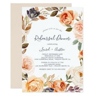 Rustic Earth Florals Rehearsal Dinner Invitation