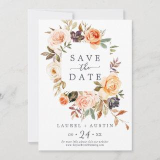 Rustic Earth Florals Save the Date Announcement